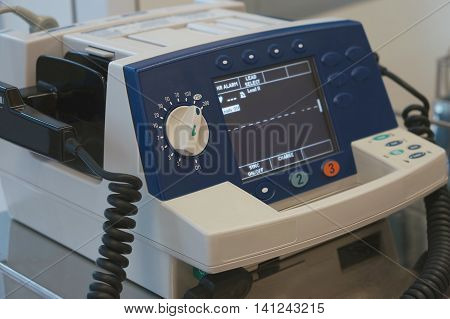 Defibrillator In Emergency Room At Hospital