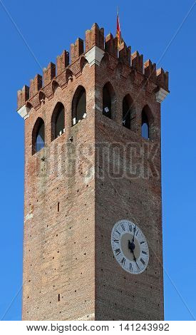 Ancient Tower Of Castle In Italy
