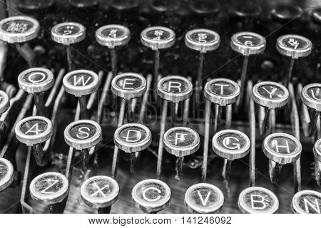 Antique Typewriter - An Antique Typewriter Showing Traditional QWERTY Keys XIII