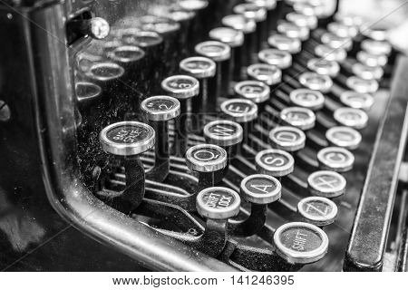 Antique Typewriter - An Antique Typewriter Showing Traditional QWERTY Keys XV