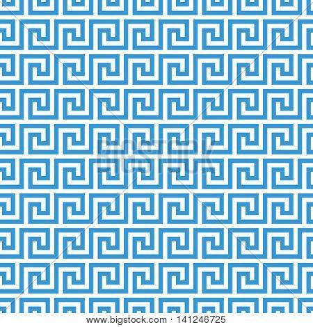 greek fret meander. vintage greek key seamless pattern background. vector illustration