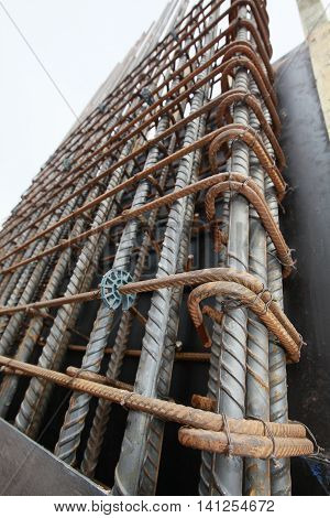 wire of iron bar on civil construction in sao paulo brazil