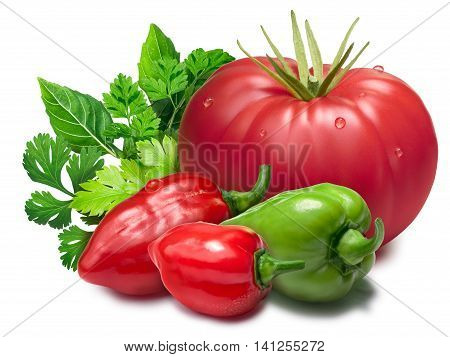Tomato, Habaneros, Herbs As Design Element