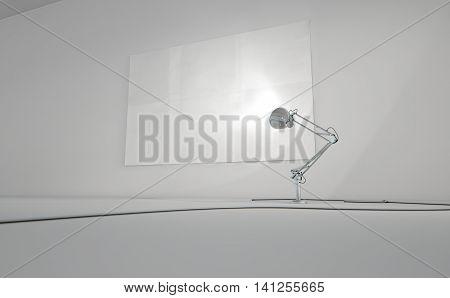 Vintage Lamp Illuminating Wall