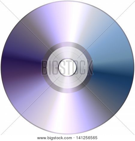 Compact disc single cd isolated on white