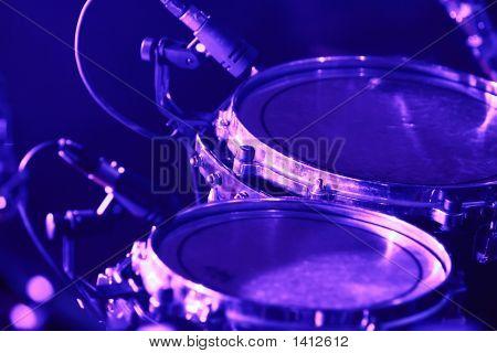 Drum Set With Microphones