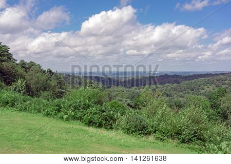 The natural terrain of the Devil's Punchbowl at Hindhead in Surrey