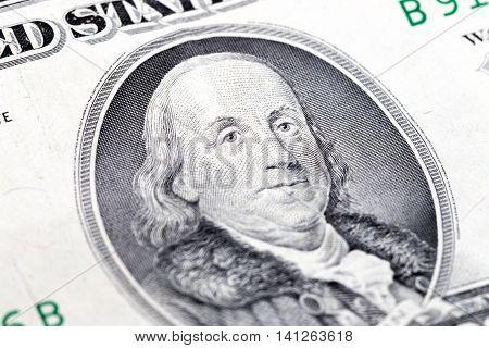Benjamin Franklin, one hundred US dollars old version