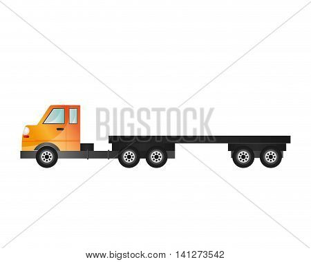flat design cargo truck icon vector illustraiton