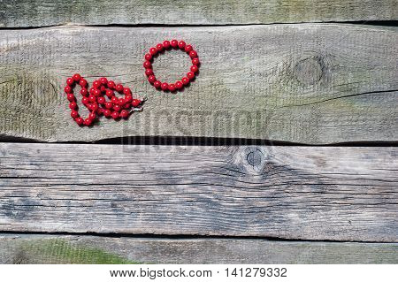 Coral Necklace And Bracelet On A Old Floor