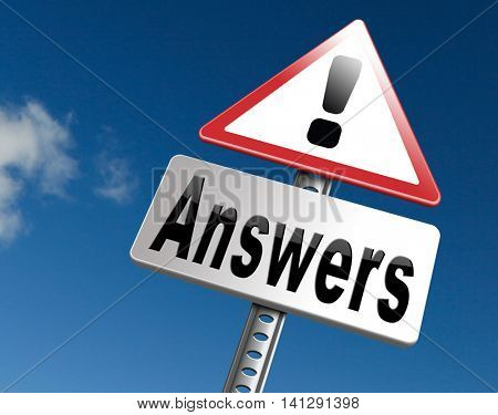 search and find answers on questions, good information or info to discover truth 3D illustration