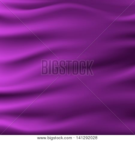 vector illustaration of smooth elegant luxury purple silk or satin texture. Can be used as background.