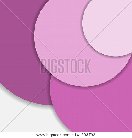 Pink circle material design background, stock vector