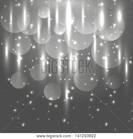 Abstract black and white light glowing background, stock vector