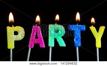 party candles background