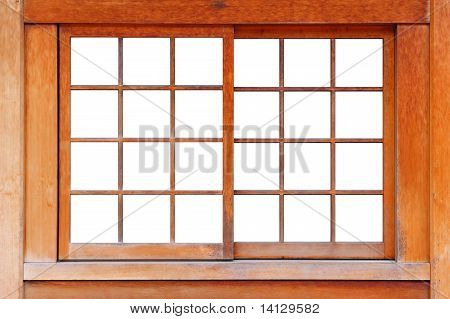 Wood Window Background