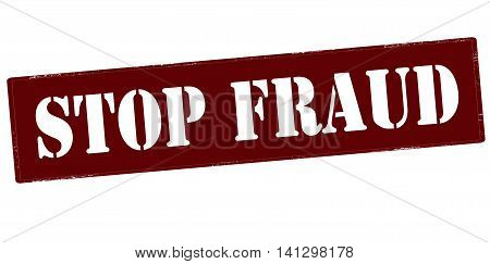 Rubber stamp with text stop fraud inside vector illustration