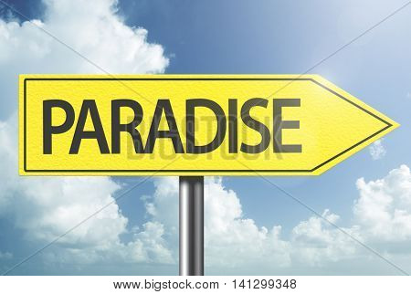 Paradise yellow sign