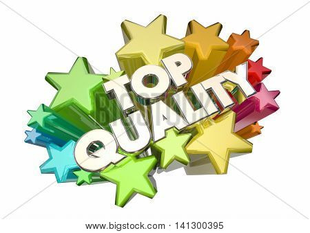 Top Quality Best Most Reliable Products Stars 3d Illustration