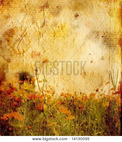 flower vintage paper background
