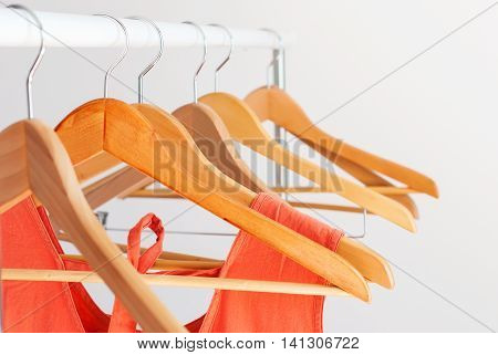 Nothing To Wear Concept Color Female Clothes Empty