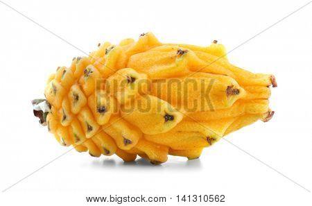 Yellow pitahaya isolated on white