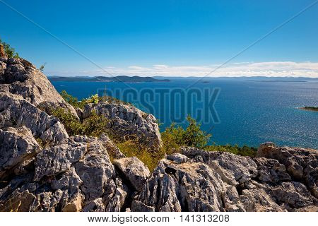 Kornati national park archipelago view Dalmatia Croatia
