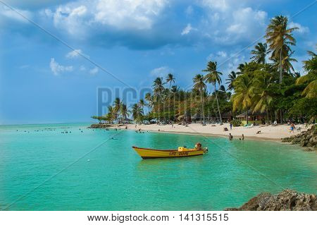 A caribbean paradise, the beach at Pigeon Point in Tobago