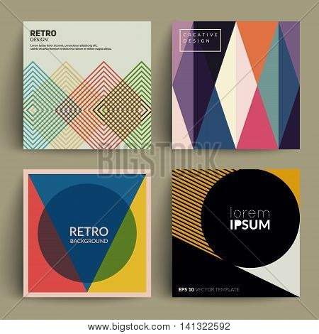 Abstract covers set. Modernism. Applicable for Covers, Placards, Posters, Flyers and Banner Designs. vector
