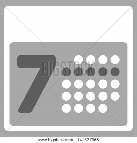 Syllabus Week vector icon. Style is bicolor flat symbol, dark gray and white colors, rounded angles, silver background.