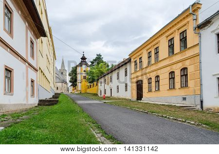 Way to the St. Martin's Cathedral in Spisska Kapitula Slovakia.