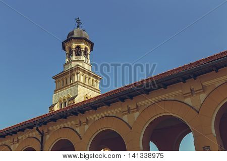 Coronation Orthodox Cathedral Steeple, Alba Iulia, Romania