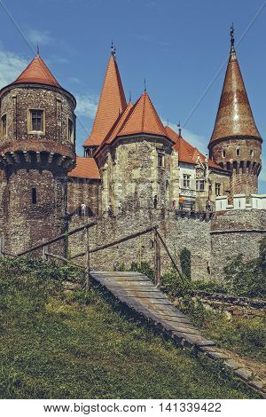 Bridge And Towers, Corvin Castle, Romania