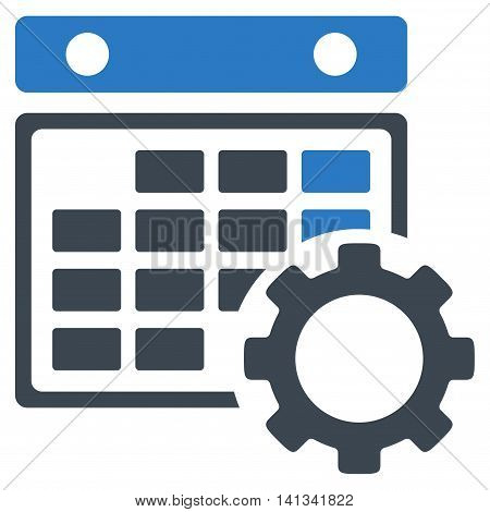 Syllabus Adjustment vector icon. Style is bicolor flat symbol, smooth blue colors, rounded angles, white background.