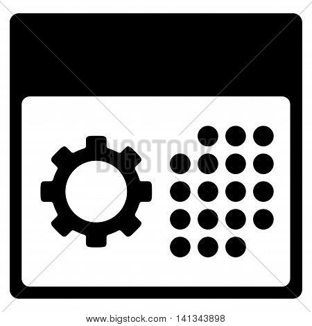 Service Appointment vector icon. Style is flat symbol, black color, rounded angles, white background.
