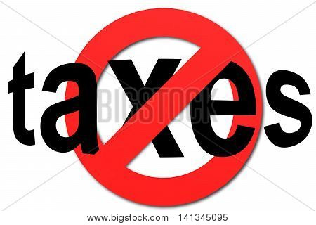 Stop Taxes Sign In Red