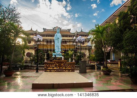 Buddhist Temple. Buddha Statue.vietnam.da Nang
