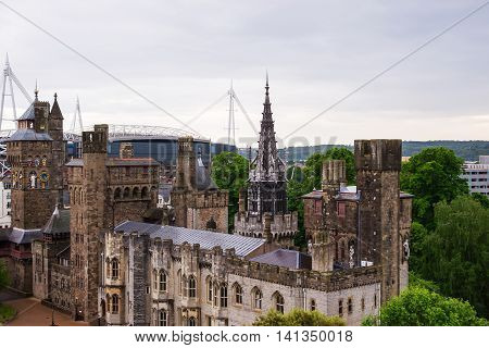 Main Range Of Cardiff Castle Cardiff Of Wales