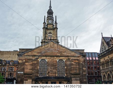 St George Tron Church In The Old City Of Glasgow