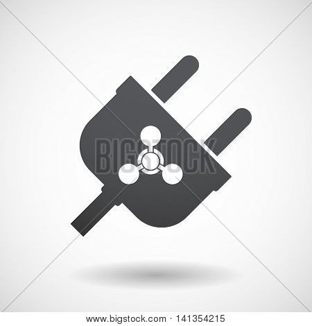 Isolated Male Plug With A Chemical Weapon Sign