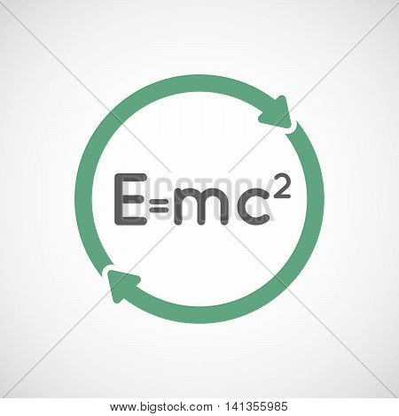 Isolated Reuse Icon With The Theory Of Relativity Formula