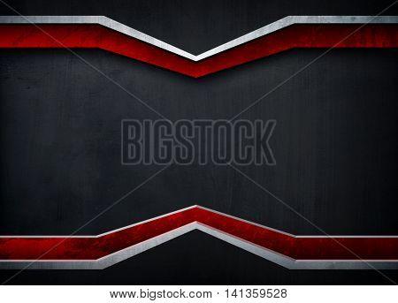 metal template design background