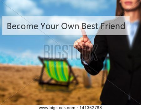 Become Your Own Best Friend - Successful Businesswoman Making Use Of Innovative Technologies And Fin