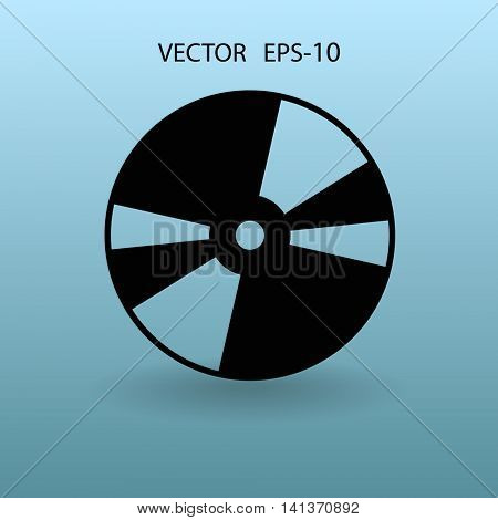 Flat  icon of CD disc