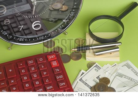 Financial Report. Time Is Money And Wealth.