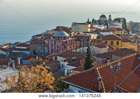Amazing Panorama to Kavala, East Macedonia and Thrace, Greece poster