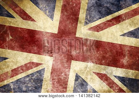 Grunge Union Jack flag of the United Kingdom of Great Britain