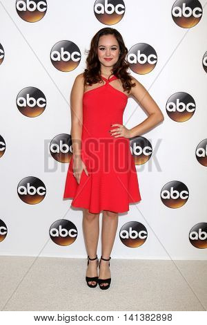 LOS ANGELES - AUG 4:  Hayley Orrantia at the ABC TCA Summer 2016 Party at the Beverly Hilton Hotel on August 4, 2016 in Beverly Hills, CA