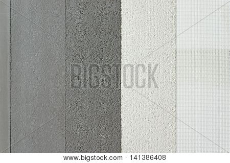 different microcement application layers above tile microtopping coating whit fiberglass mesh