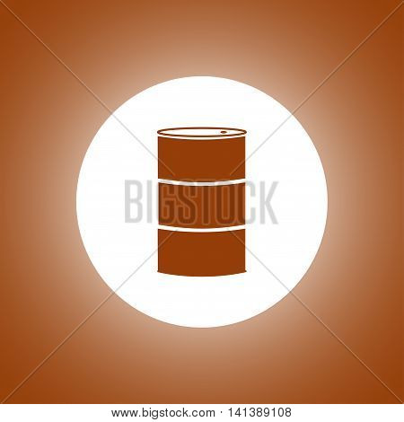 Simple Icon Barrels Of Oil.